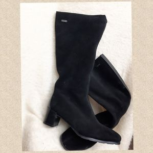 Real suede leather winter boots insulated